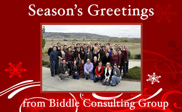 Season's Greetings from Biddle Consulting Group
